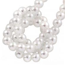 Perles en Verre Cirées DQ (2 mm) Bright White (150 pièces)
