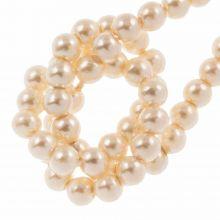 Perles en Verre Cirées DQ (2 mm) Tangerine (150 pièces)
