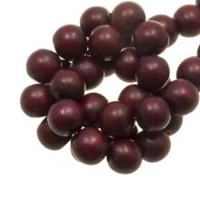 perles en bois cherry rouge intense