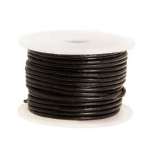 Cuir régulier DQ (1 mm) Black (10 mètres)