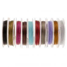 Fil Métallique (0,38 mm) Mix Color (10 bobines de 10 mètres)