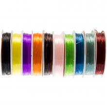 Fil Élastique (0.8 mm) Mix Color (10 x 8 mètres)