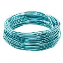 Fil en Aluminium (2 mm) Aqua Blue (10 mètres)