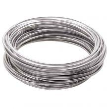 Fil en Aluminium (2 mm) Silver (5 mètres)