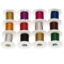 Fil De Cuivre (0.40 mm) Mix Color (12 x 2.75 mètres)