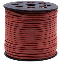 Fil imitation Daim (3 mm) Rusty Red (90 mètres)