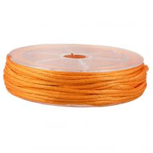 Cordon Satin (1.5 mm) Orange (15 mètres)