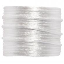 Cordon Satin (2 mm) White (15 mètres)