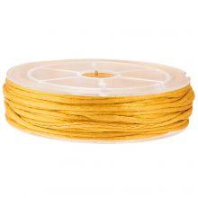 Cordon Satin (1.5 mm) Honey Yellow (15 mètres)