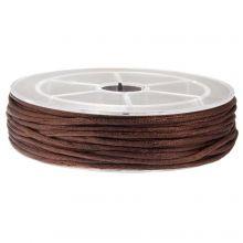 Cordon Satin (1.5 mm) Dark Brown (15 mètres)
