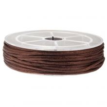 Cordon Satin (2 mm) Dark Brown (15 mètres)