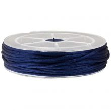 Cordon Satin (1.5 mm) Dark Blue (15 mètres)