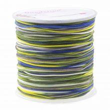Fil Nylon (1 mm) Mix Color - Navy Yellow (100 mètres)