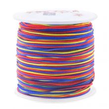 Fil Nylon (1 mm) Mix Color - Rainbow (100 mètres)