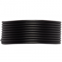 Fil Caoutchouc (2 mm) Black (5 x 1 mètres)