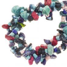 Mélange de Perles Agate (13 - 4 mm) Blueberry (150 pièces)