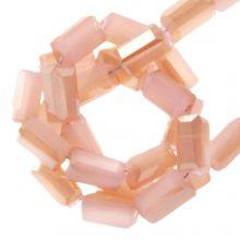Perles en Verre (4 x 2 mm) Galvanized Soft Coral (100 pièces)