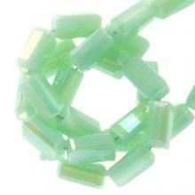 Perles en Verre (4 x 2 mm) Galvanized Mint Green (100 pièces)