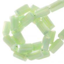 Perles en Verre (4 x 2 mm) Galvanized Pastel Green (100 pièces)