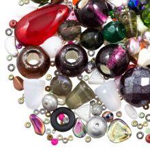 Mélange de Perles en Verre (tailles diverses) Mix Color (50 grammes)