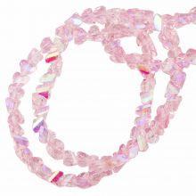 Perles en Verre (3 x 2 mm) Galvanized Pink AB (148 pièces)