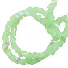 Perles en Verre (3 x 2 mm) Galvanized Pale Green AB (148 pièces)