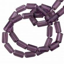 Perles en Verre Transparentes (7 x 4 mm) Purple (80 pièces)
