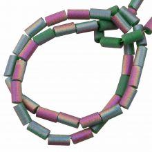 Perles en Verre (5 x 2.5 mm) Galvanized Sea Green AB (95 pièces)