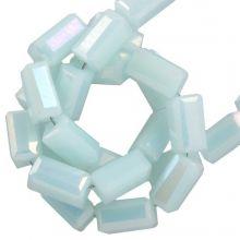Perles en Verre (4 x 2 mm) Galvanized Soft Blue (100 pièces)