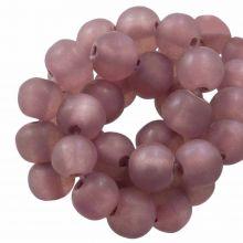Perles En Résine Mat (8 - 9 mm) Old Pink (20 pièces)