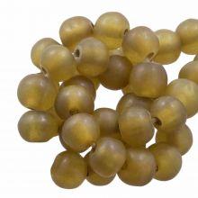 Perles En Résine Mat (8 - 9 mm) Dijon (20 pièces)