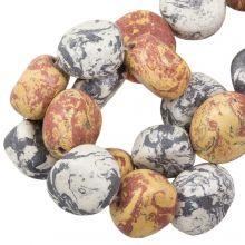 Perles en Céramique (16 x 8 mm) Earth Stone (13 pièces)