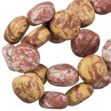 Perles en Céramique (16 x 8 mm) Sandy Brown (13 pièces)