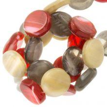 Mélange de Perles en Verre Plat (12 x 3.5 mm) Retro (30 pièces)