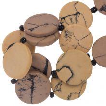 Perles en Céramique (23 x 3.5 mm) Nude (8 pièces)