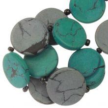 Perles en Céramique (23 x 3.5 mm) Grey / Green (8 pièces)