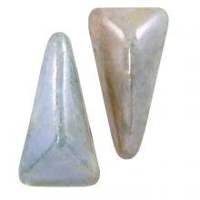 Vexolo® DQ Perles en Verre  (5 x 8 mm) Alabaster Blue (20 pièces)