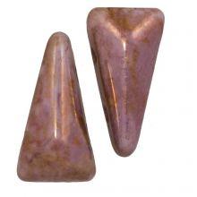 Vexolo® DQ Perles en Verre  (5 x 8 mm) Alabaster Lila (20 pièces)