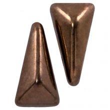 Vexolo® DQ Perles en Verre (5 x 8 mm) Jet Gold (20 pièces)