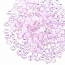 Rocailles DQ (4 mm) Pink AB (25 Gram / 350 pièces)