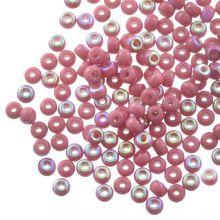 Rocailles DQ (3 mm) Antique Pink AB (25g / 600 pièces)
