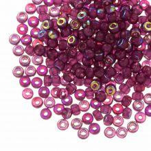 Rocailles DQ (3 mm) Mulberry Purple AB (25g / 600 pièces)
