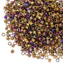 Miyuki Delica (11/0) Metallic Golden Olive Iris (10 grammes)