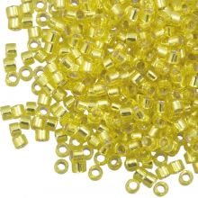 Miyuki Delica (11/0) Silver Lined Yellow (10 grammes)