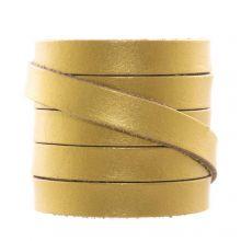 Cuir Plat DQ (10 x 2 mm) Metallic Gold (1 mètres)