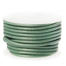 Cuir Métallique DQ (2 mm) Mint Green (5 Mètres)