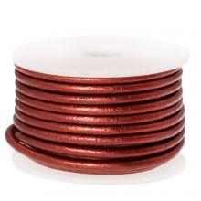 Cuir Métallique DQ (2 mm) Red (5 Mètres)