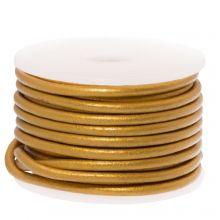 Cuir métallique DQ (2 mm) Doré (5 mètres)