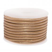 Cuir Métallique DQ (3 mm) Cream Peach (5 Mètres)