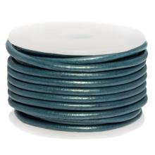 Cuir Métallique DQ (3 mm) Faded Demin (5 Mètres)